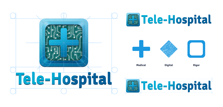 construction du logo tele-hospital