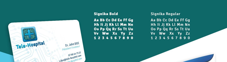 typographie de l'identité visuelle de tele-hospital