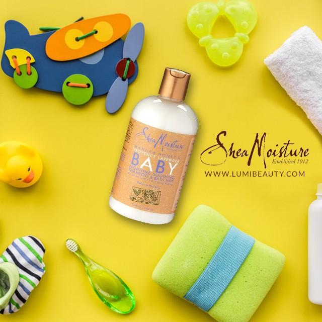 visuel pour lumibeauty produits shea moisture baby